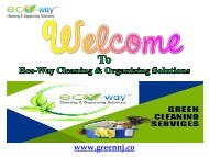 Best Housekeeping Services New Jersey| Eco-Way Cleaning & Organizing Solutions