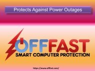 Protects Against Power Outages - Smart Computer Protection