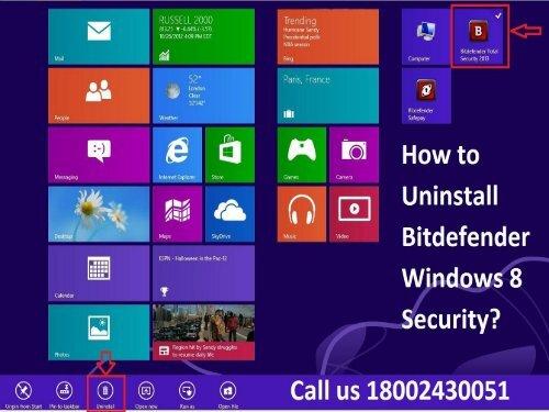 1 (800) 243-0051 Methods to Uninstall Bitdefender Windows 8 Security