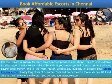 Hot Escorts Services Available in Chennai
