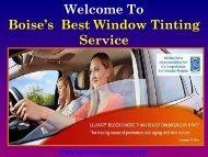 Car Window Tinting Boise   Boise Window Tinting
