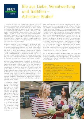 Anwenderbericht Achleitner Biohof GmbH