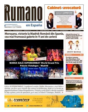Numărul 191 al Ziarului El Rumano