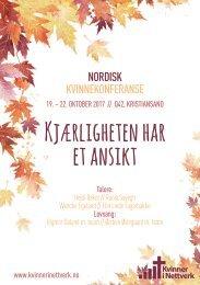 KIN Nordisk Kvinnekonferanse 2017