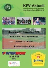 Samstag, 17. November 2012 Rheinstadion Kehl - Kehler FV