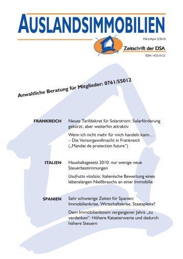 auslandsimmobilien - Deutsche Schutzvereinigung ...