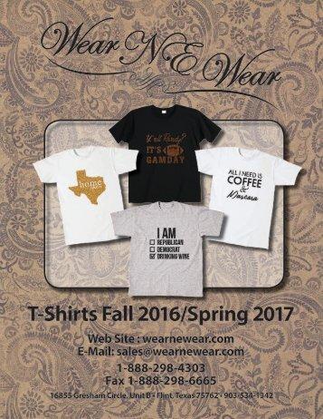 T-Shirt Catalog 2016