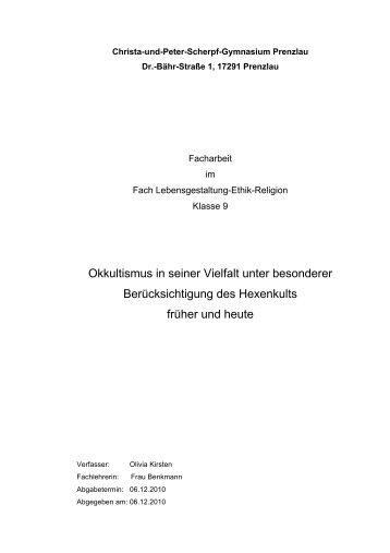 Okkultismus und Hexenwahn - Dorothee Elisabeth Tretschlaff