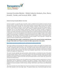 Isononyl Acrylate Market Size, Share, Growth, Trends, and Forecast 2016 – 2024