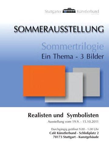 Realisten und Symbolisten - Künstlerbund Stuttgart