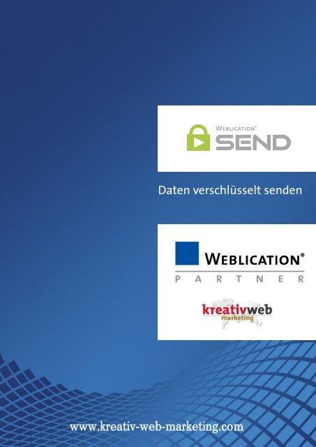 Weblication SEND - Produktbroschüre - kreativ web marketing - Partner