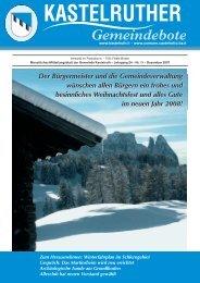 Kastelruther Gemeindebote - Ausgabe Dezember 2007 (3,7 Mb