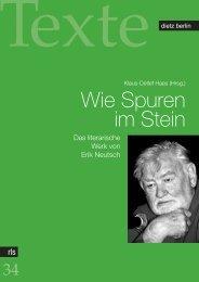 Wie Spuren im Stein - Rosa-Luxemburg-Stiftung