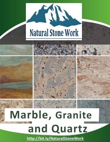 Catálogo de Natural Stone Work (inglés)
