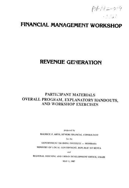 Financial Management Work Revenue
