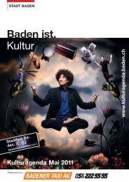 Baden ist. Kultur - Veranstaltungen - Baden