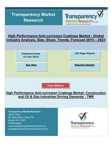 High Performance Anti-corrosion Coatings Market 2024