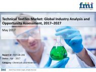 Technical Textiles Market expected to grow at a CAGR of 4.6% during 2017-2027