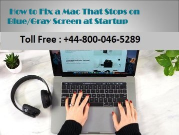 How to fix mac that stops on blue gray screen at startup