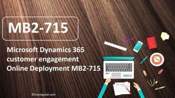ExamGood MB2-715 Microsoft MCSA exam dumps questions