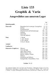 Liste 133 Graphik & Varia - Wiener Antiquariat Ingo Nebehay