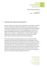 Giorgione-Code - Kunsthistorisches Museum Wien