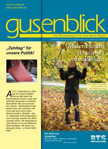 Maler Herbst ist schwer am Pinseln - Gusenblick