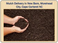 Mulch Delivery in New Bern, Morehead City, Cape Carteret NC