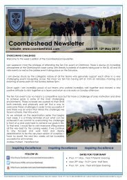 Coombeshead Academy Newsletter - Issue 59