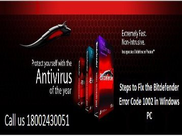 1 (800) 243-0051 How to Resolve Bitdefender Error 1002 in Windows PC?