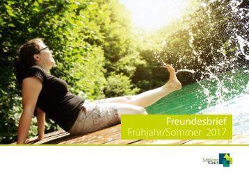 Freundesbrief Frühjahr/Sommer 2017