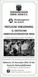 Firmenpräsentations- Möglichkeiten - Wirtschaftsclub Rhein-Main e.V.