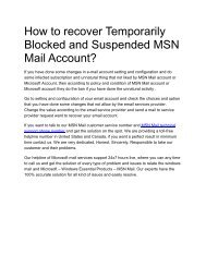 How to recover a Temporarily Blocked and Suspended MSN Mail Account