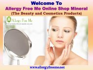Anti-Aging Skin Products |Allergy Free Me