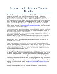 Testosterone Replacement Therapy Benefits