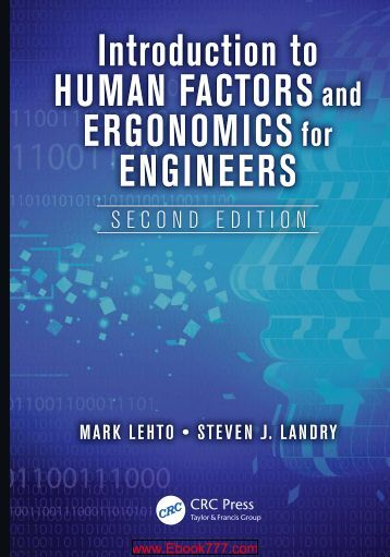 Introduction to Human Factors and Ergonomics for Engineers (2nd edition)