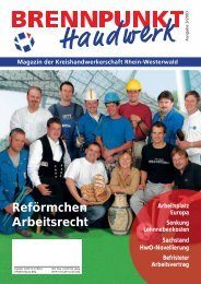 Reförmchen Arbeitsrecht - Kreishandwerkerschaft Rhein-Westerwald