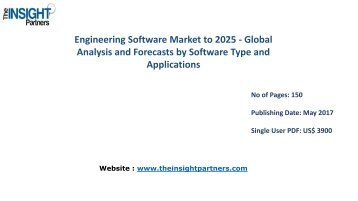 Engineering Software Market - Global Industry Analysis, Market Size, Share, Growth, Trends and Forecast, 2016 - 2025 |The Insight Partners