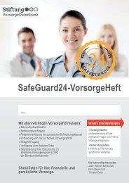 Safeguard24-VorsorgeHeft