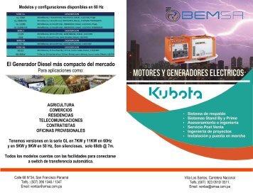 PLANTAS ELECTRICAS KUBOTA