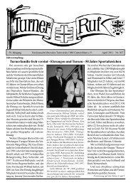 Turnerfamilie froh vereint - Ehrungen und Turnen - Turnverein 1848 ...