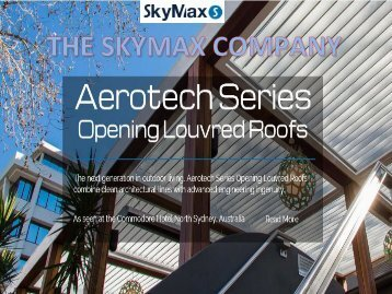 Skymax Operable Louvred Roofs