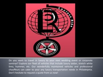 Transportation Service in Philadelphia