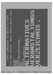 AlternativesVeranstaltungsVerzeichnis WS 11/12 - Fachschaft 04