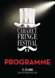 Adelaide Cabaret Fringe Programme2017