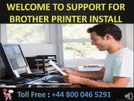 +44-800-046-5291 Brother Printer Installation Support