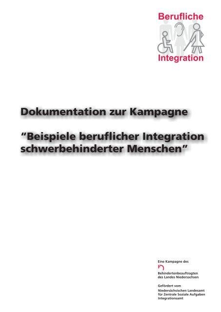 Beispiele beruflicher Integration schwerbehinderter Menschen