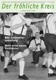 BAG Generalver- sammlung Wahl eines neuen ... - Volkstanz.at