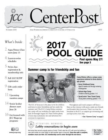 2017 Pool Guide and Summer CenterPost