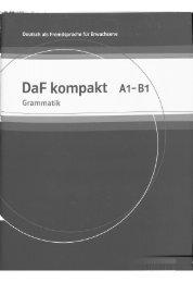 DaF kompakt A1 - B1. Grammatik